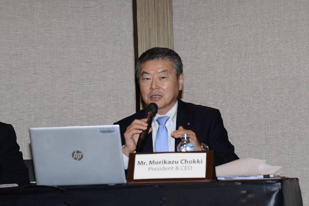 ข่าวรถวันนี้ : มร. โมะริคาซุ ชกกิ กรรมการผู้จัดการใหญ่ บริษัท มิตซูบิชิ มอเตอร์ส (ประเทศไทย) จำกัด