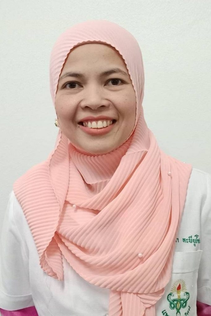 พ.ญ.ฟารินดา หะยียูโซะ นายแพทย์ชำนาญการพิเศษสาขาอายุรกรรม โรงพยาบาลยะลา