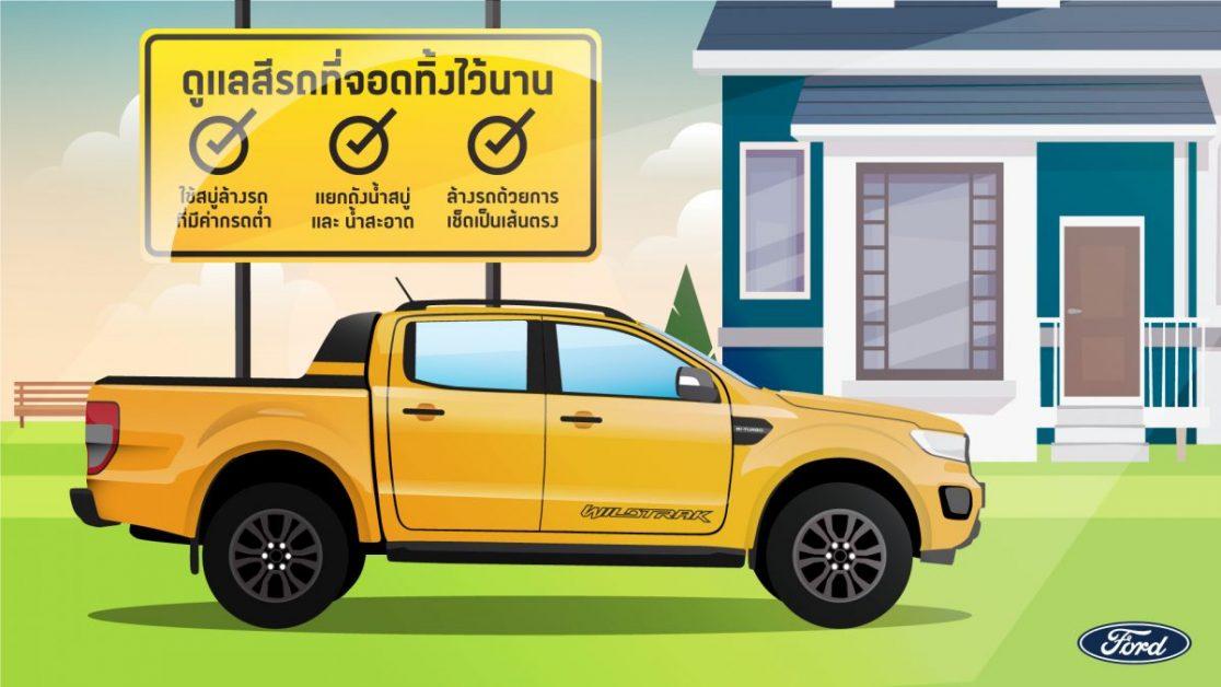 ข่าวรถวันนี้ : ฟอร์ด แนะนำ 4 เคล็ดลับการรักษาสีรถให้เหมือนใหม่